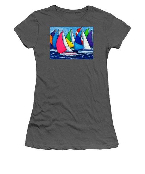 Colourful Regatta Women's T-Shirt (Athletic Fit)