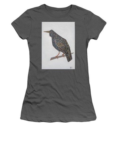 Common Starling Women's T-Shirt (Junior Cut) by Tamara Savchenko