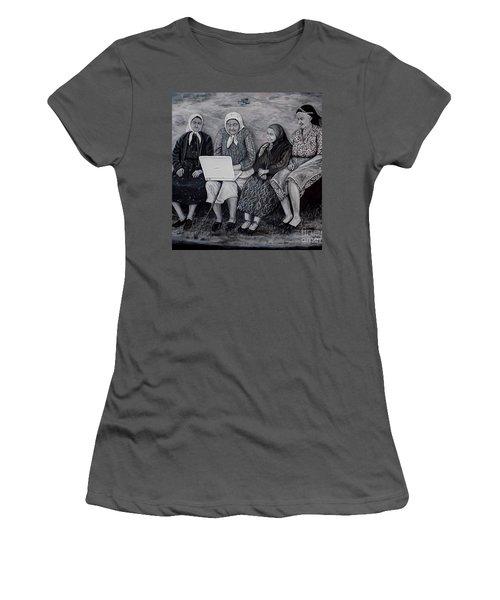 Computer Class Women's T-Shirt (Junior Cut) by Judy Kirouac