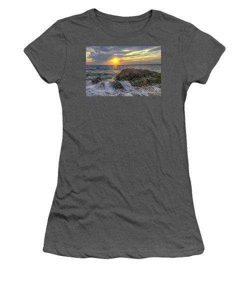 Connecticut Sunset Women's T-Shirt (Athletic Fit)