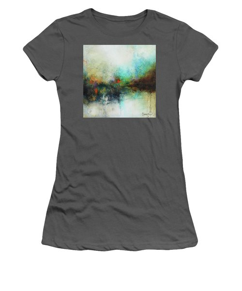 Contemporary Abstract Art Painting Women's T-Shirt (Junior Cut) by Patricia Lintner