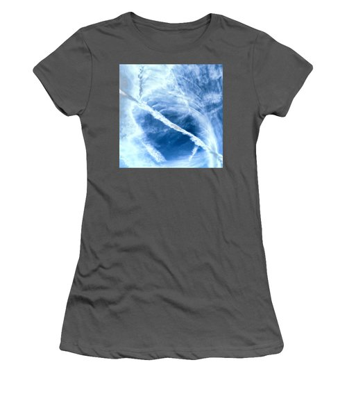 Contrail Concentricities Women's T-Shirt (Athletic Fit)