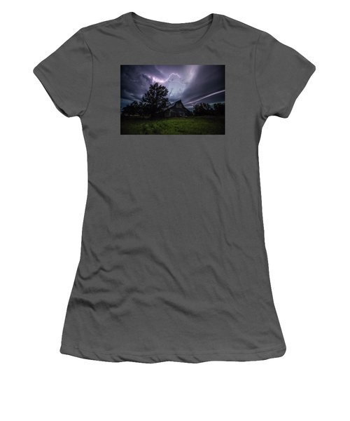 Women's T-Shirt (Athletic Fit) featuring the photograph Convergence  by Aaron J Groen