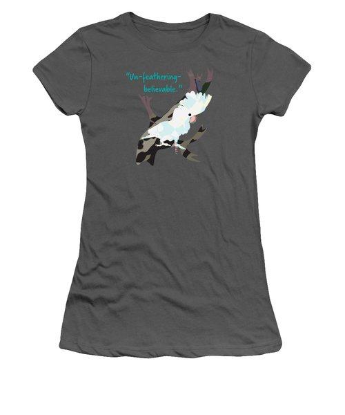Cookie Cockatoo Women's T-Shirt (Junior Cut) by Geckojoy Gecko Books