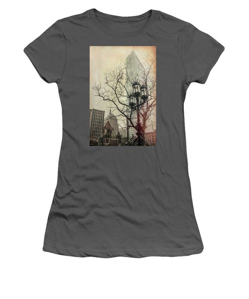 Women's T-Shirt (Junior Cut) featuring the photograph Copley Square - Boston by Joann Vitali