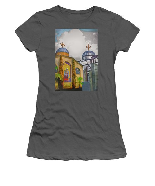 Coptic Church Rebirth Women's T-Shirt (Junior Cut) by Joseph Hollingsworth