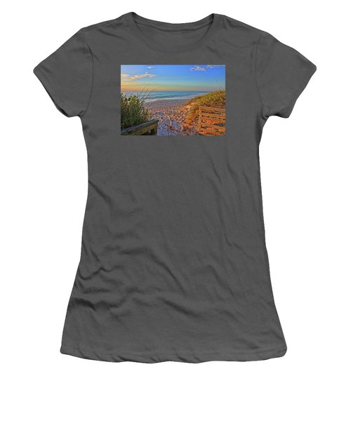 Coquina Beach By H H Photography Of Florida  Women's T-Shirt (Athletic Fit)