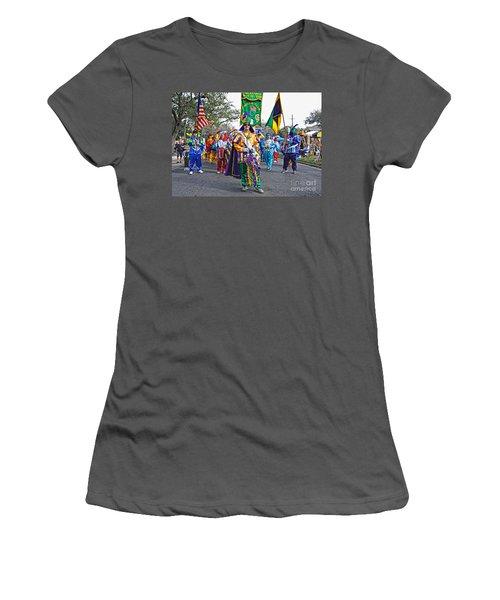 Corner Club 3 -mardi Gras New Orleans Women's T-Shirt (Junior Cut) by Kathleen K Parker