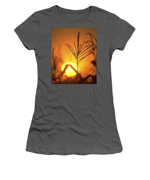 Cornfield Sunset Women's T-Shirt (Athletic Fit)