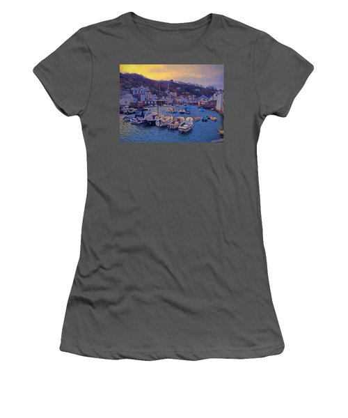 Cornish Fishing Village Women's T-Shirt (Junior Cut) by Paul Gulliver