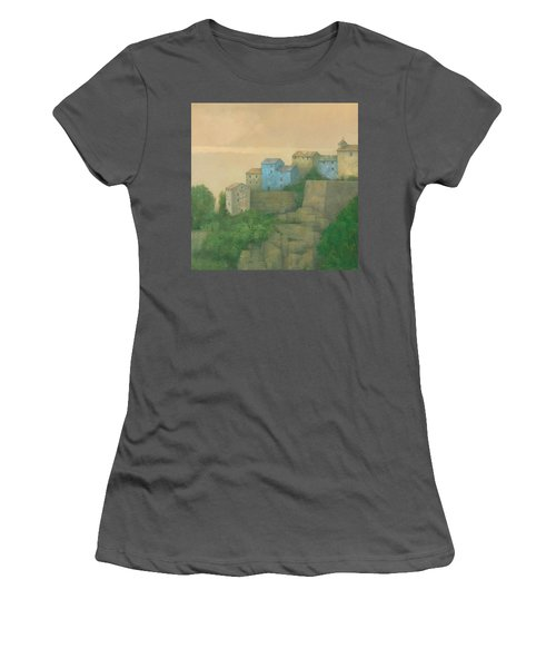 Corsican Hill Top Village Women's T-Shirt (Athletic Fit)