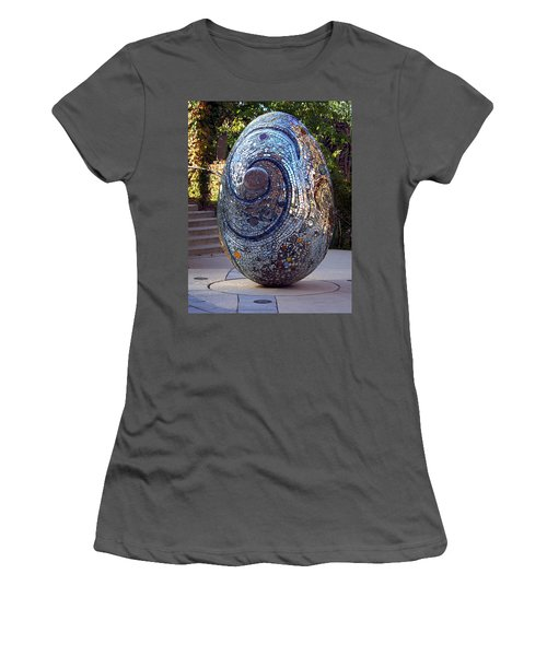 Cosmic Egg Women's T-Shirt (Junior Cut) by Joseph Skompski