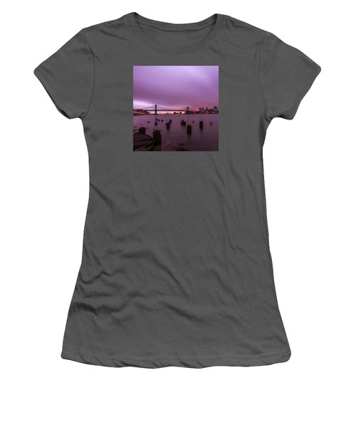 Women's T-Shirt (Junior Cut) featuring the photograph Cotton Candy  by Anthony Fields