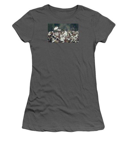 Cotton Field 5 Women's T-Shirt (Junior Cut) by Andrea Anderegg