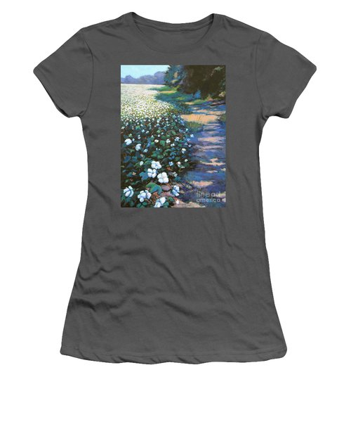 Cotton Field Women's T-Shirt (Junior Cut) by Jeanette Jarmon
