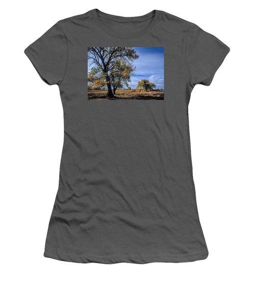 Cottonwood #5 Fall Ranch Colorado Blue Sky Women's T-Shirt (Junior Cut) by John Brink