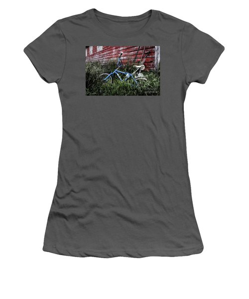 Women's T-Shirt (Junior Cut) featuring the photograph Country Bicycle by Brad Allen Fine Art