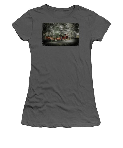 Women's T-Shirt (Junior Cut) featuring the photograph Country Crossing by Marvin Spates