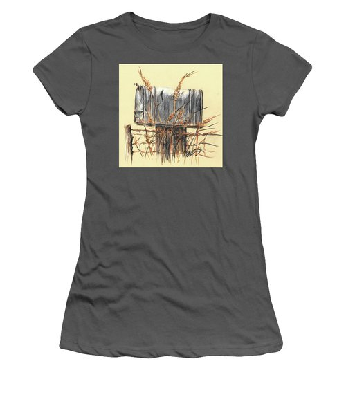Country Mailbox In Colored Pencil Women's T-Shirt (Athletic Fit)