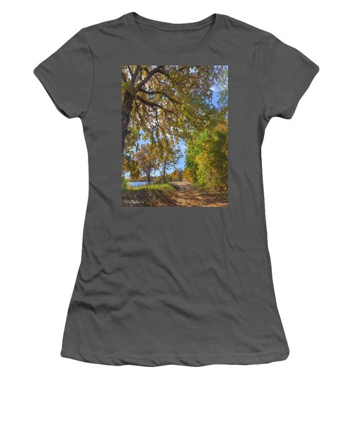 Country Road Women's T-Shirt (Junior Cut) by Tim Fitzharris