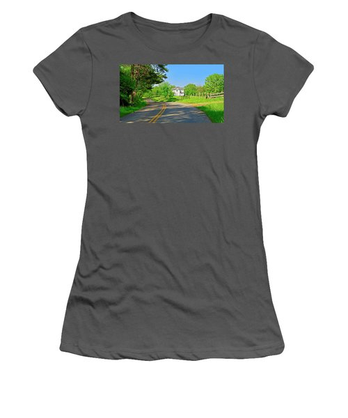 Country Roads Of America, Smith Mountain Lake, Va. Women's T-Shirt (Athletic Fit)