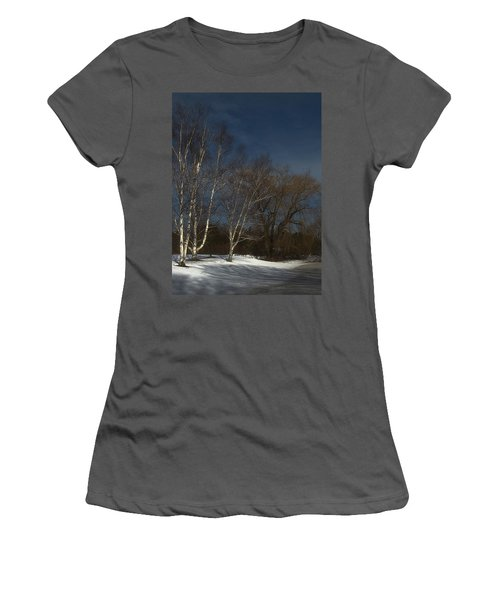 Country Roadside Birch Women's T-Shirt (Athletic Fit)
