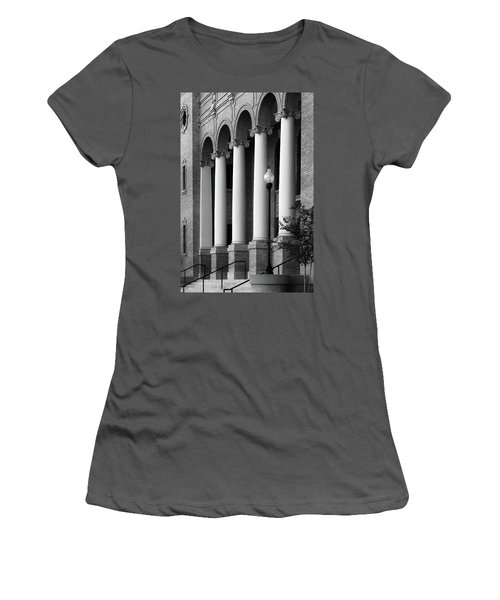 Women's T-Shirt (Junior Cut) featuring the photograph Courthouse Columns by Richard Rizzo