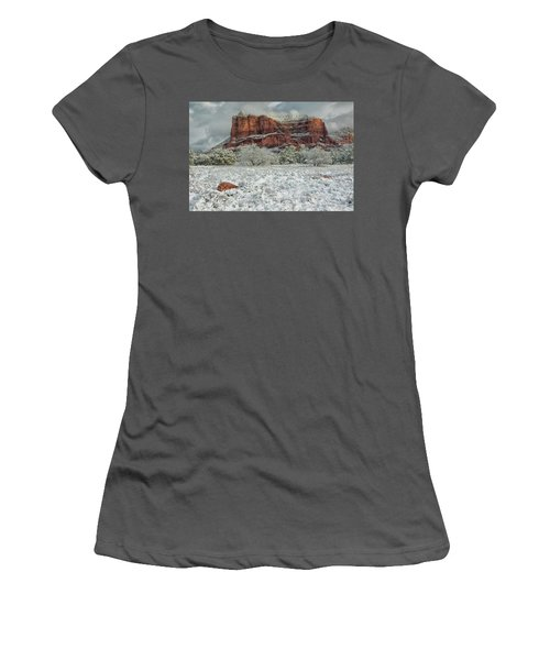 Courthouse In Winter Women's T-Shirt (Athletic Fit)