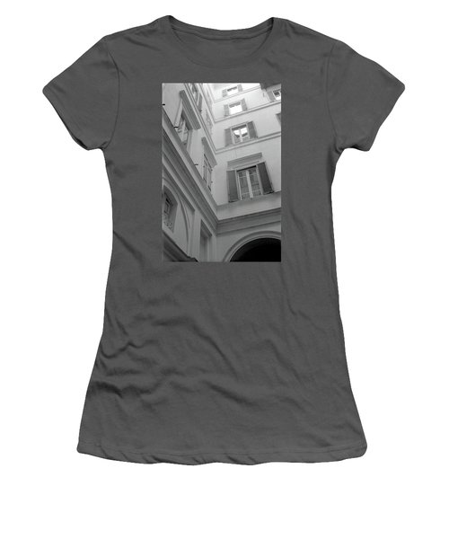 Courtyard In Rome Women's T-Shirt (Athletic Fit)