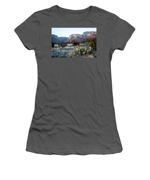 Cow At Red Rock Women's T-Shirt (Athletic Fit)