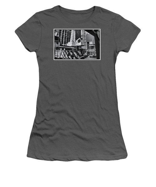 Crane In Manhattan Women's T-Shirt (Athletic Fit)
