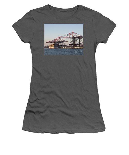 Cranes 2 Women's T-Shirt (Junior Cut) by Cheryl Del Toro