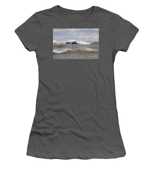 Crashing The Reef Women's T-Shirt (Junior Cut) by Sandra Updyke