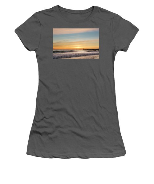Crashing Waves At Aberdeen Beach Women's T-Shirt (Athletic Fit)