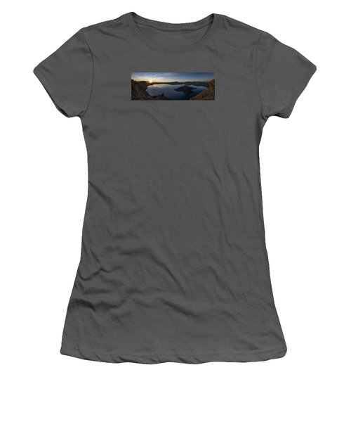Crater Lake At Sunrise Women's T-Shirt (Athletic Fit)
