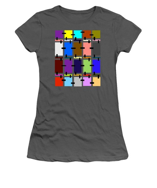 Crazy Quilt Women's T-Shirt (Junior Cut) by Cathy Harper
