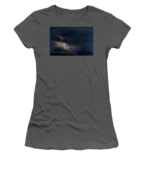 Crescent Moon In Hocking Hilla Women's T-Shirt (Junior Cut) by Haren Images- Kriss Haren