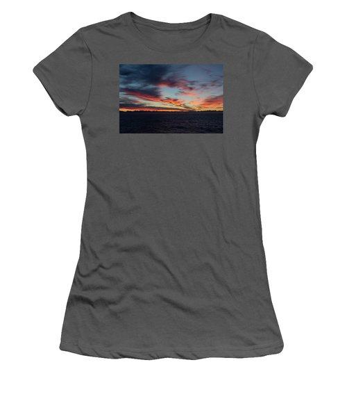 Crimson Morning Women's T-Shirt (Athletic Fit)