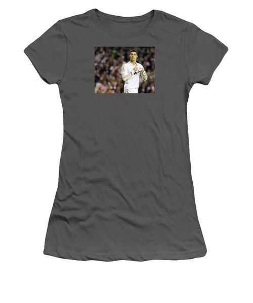 Cristiano Ronaldo 4 Women's T-Shirt (Junior Cut) by Rafa Rivas