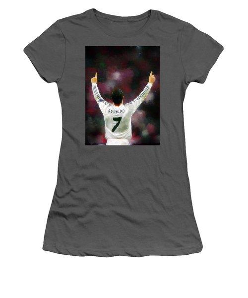 Cristiano Ronaldo Women's T-Shirt (Athletic Fit)