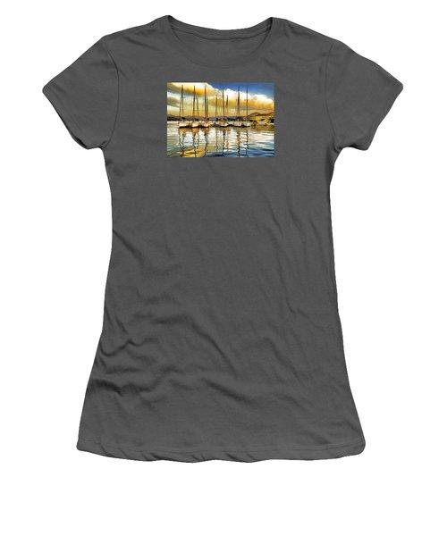 Women's T-Shirt (Junior Cut) featuring the photograph Croatia Marina by Dennis Cox WorldViews