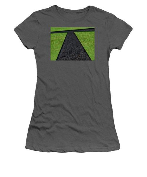 Women's T-Shirt (Junior Cut) featuring the photograph Cross Roads by Paul Wear