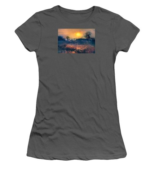 Crossing Through The Meadows Women's T-Shirt (Junior Cut) by John Rivera