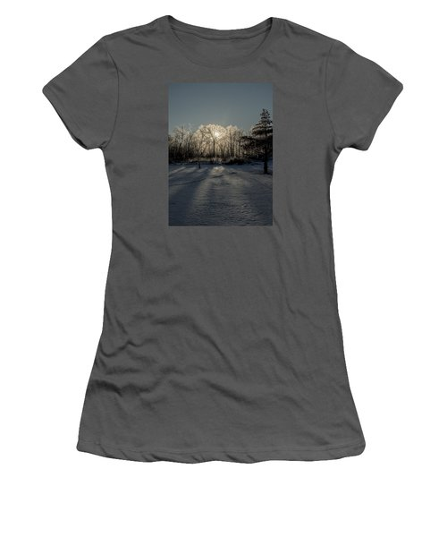 Women's T-Shirt (Junior Cut) featuring the photograph Crystal Glow by Annette Berglund