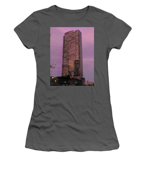 Crystal Skyscraper Sunset Women's T-Shirt (Athletic Fit)