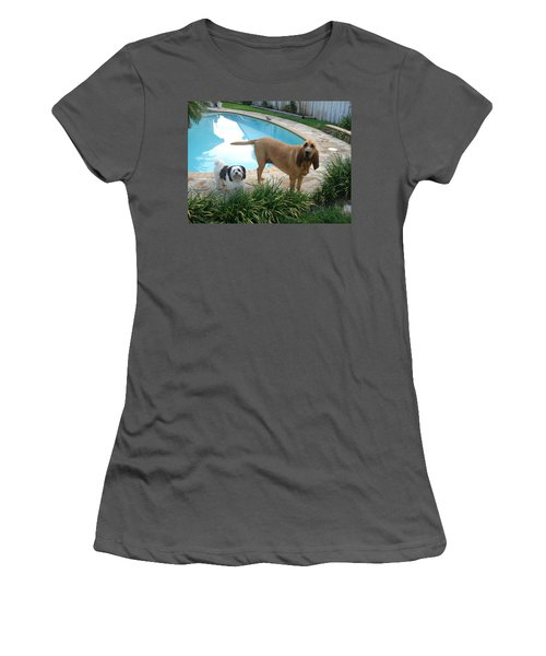 Cujo And Lucky Women's T-Shirt (Junior Cut) by Val Oconnor