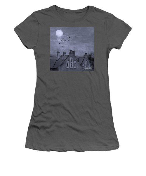 Women's T-Shirt (Junior Cut) featuring the photograph Curse Of Manor House by Juli Scalzi