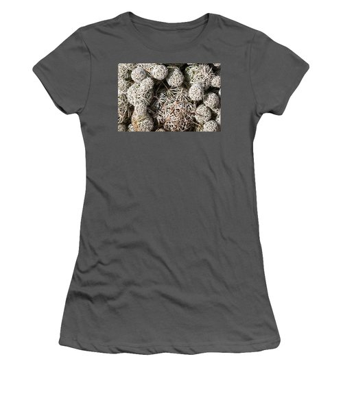 Women's T-Shirt (Junior Cut) featuring the photograph Cute Cactus Ball by Catherine Lau