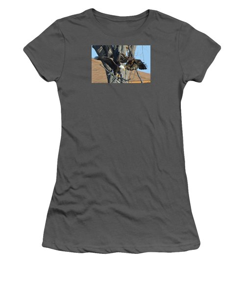 Women's T-Shirt (Junior Cut) featuring the photograph Dad And Junior With Fish by Coby Cooper