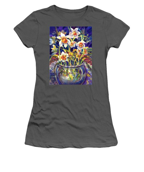 Daffodils And Lace Women's T-Shirt (Athletic Fit)